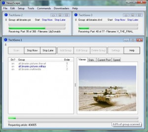Usenet newsgroup downloader